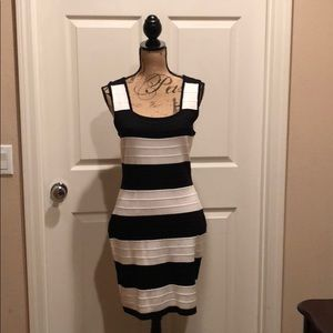 Dresses & Skirts - Pink Rose black and white striped sweater Dress